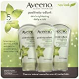 Aveeno Positively Radiant Skin Brightening Daily Scrub, 3 pk./5 oz. (Pack of 6) AS