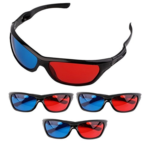 Frame Amo Universal Anaglyph 3D TV Glass, Red and Blue Lens, 3-PACK by Frame Amo