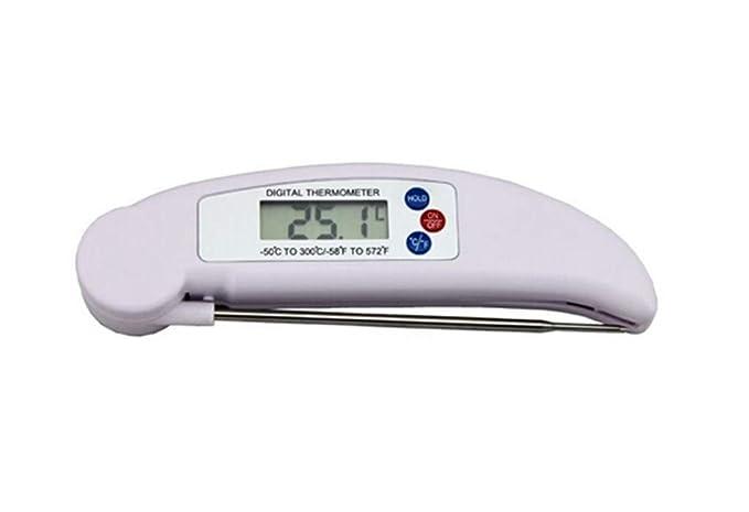 CAOQAO - Termómetro de Cocina con sonda de Lectura instantánea ...