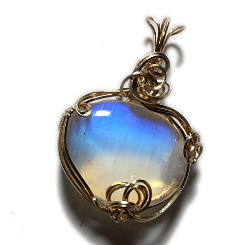 Moonstone, Rainbow Moonstone Pendant, 14k Solid Yellow Gold, Pendant, Moonstone Pendant, necklace, Jewelry, (Moonstone Yellow Pendant)