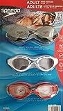 Speedo Swim Goggles, Adult 3-Pack