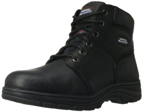 Skechers for Work Men's Workshire Relaxed Fit Work Steel Toe Boot,Black,11 M US ()