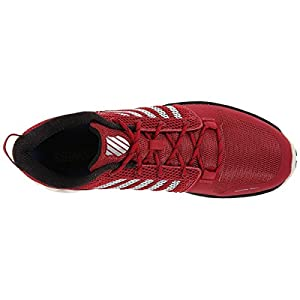 K-Swiss Men's X Lite Lightweight Training Shoe, Cardinal/Bright White/Black, 13 M US