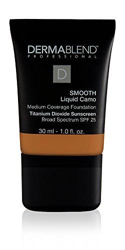 Dermablend Smooth Liquid Camo Medium to High Coverage Foundation Makeup with SPF 25, 65N Café, 1 fl. oz.