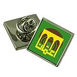 Amman City Jordan Flag Lapel Pin Engraved Box
