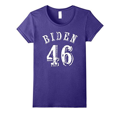 Womens Joe Biden 46 for President 2020 Presidential Campaign T Shir Large Purple