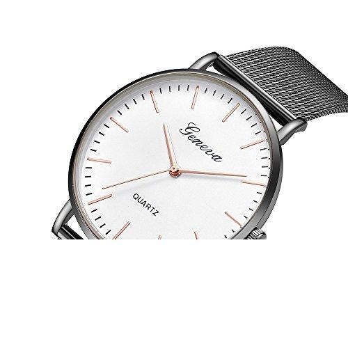 Garish❤️❤️ Women's Geneva Classic Wristwatch, Quartz Stainless Steel Wrist Watch,Party Digital Watch for Girls Jewelry ()