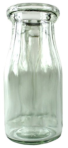 Old Fashioned Heavy Glass Half Pint Milk Bottle, Decanter Cream (Old Glass Bottles)