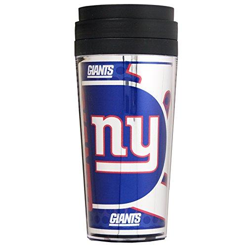 NFL New York Giants Acrylic Travel Tumbler with Metallic Graphics, 16 oz., Black (New Mug York Giants)