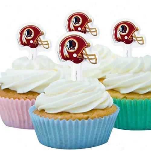 (12ct. NFL Washington Redskins Cake Picks)