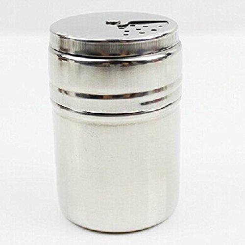 (Zoomy far: Kitchen Storage Bottle Stainless Steel Pepper Sugar Salt Pepper Shaker Toothpick Storage Bottle)