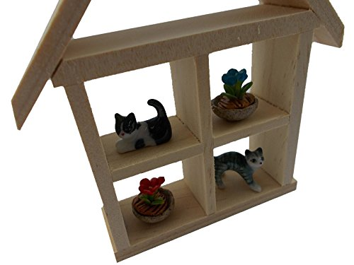 Cat Litter Miniatures Cat House Cats Figurines set Kitty Cats Ceramic Cat Collection Painted Cat Dollhouse Garden Cat Toy