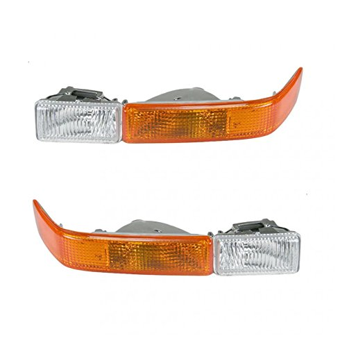 Corner Parking Signal Light Pair Set for Chevy Pickup Truck Blazer S10 w/Fog