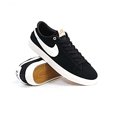 Amazon.com | NIKE SB Blazer Low GT (Black/Sail) Men's