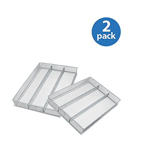 Copco 2555-7872 Large Mesh 3-Part In-Drawer Utensil Organizer - Set of 2 by Copco