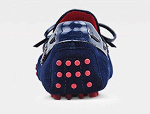 Crc Hombres Casual Style Round Toe Moda Entrenamiento De Conducción Mocasines De Cuero Doug Zapatos Royalblue