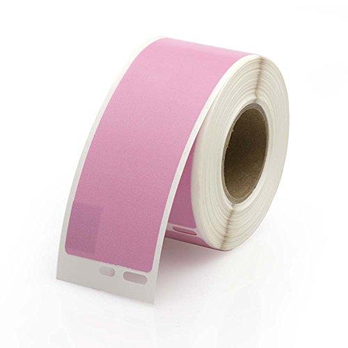 Seiko Compatible SLP-1PLB Pink Address Labels 1 roll per pack, 1-1/8