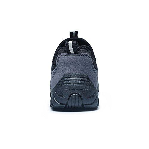 Hombres Moda Plano de atléticos Casual Zapatos del Deporte Zapatilla talón en Deslizamiento la los Gris de de THBxtq