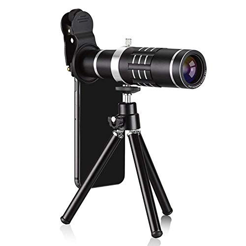 HD Telescope Universal 18X Zoom Telescope Telephoto Camera Lens with Tripod Mount & Mobile Phone Clip (Color : Black) by Gladnt