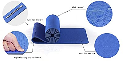 "UnBison Eco Friendly Yoga Mat 24""W 72""L 6mm Thick Free Carry Strap Included TPE Material 100% Satisfaction Guarantee."