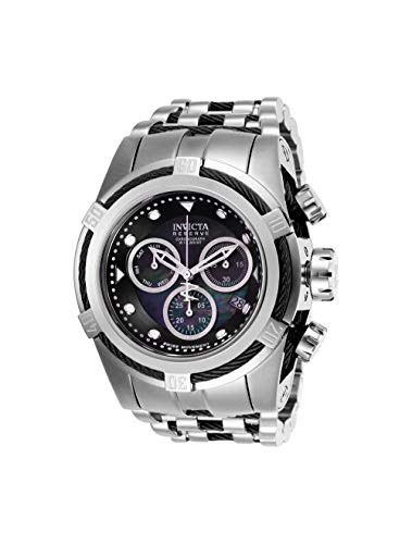 Invicta Reserve Bolt Zeus Stainless Steel/Black Band Metal/Mother of Pearl/Oyster Black Dial Quartz Men's Watch 26188 (Reserve Zeus Bolt Invicta)