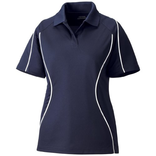 Ash City Ladies Velocity Block Polo (X-Small, Classic Navy/White) by Ash City Apparel