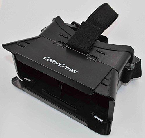 Usmile® Colorcross Plastic Google Cardboard Virtual Reality 3d Video Glass (Black)
