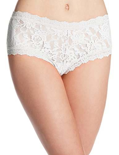 Hanky Panky Women's Signature Lace Boyshort Panty, White, ()
