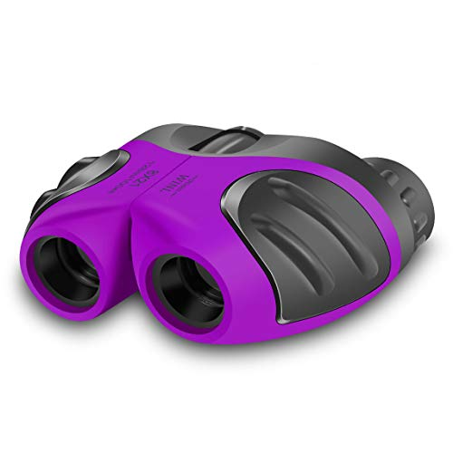 JRD&BS WINL 3-8 Year Old Girl, Compact Binoculars for Kids Yard Toys, Best Gift for 4-10 Year Girls to Watching Birds, Telescope Boys Gifts 10 Years Old to Wildlife(Purple)