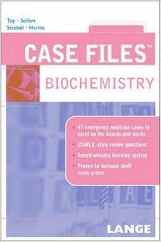Book Case Files: Biochemistry by Eugene C. Toy (2005-05-06)