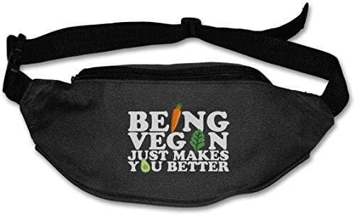 ビーガンであることは、より良いユニセックスアウトドアファニーパックバッグベルトバッグスポーツウエストパック