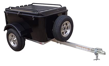 Small Cargo Trailers >> Hybrid Trailer Co Vacationer With Spare Tire Enclosed Cargo Trailer 990 Lbs Gross 30 Cu Ft Biker Black