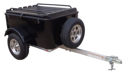 Small Cargo Trailers >> Amazon Com Hybrid Trailer Co Vacationer With Spare Tire Enclosed