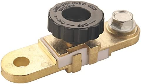 Dewhel Universal Side Post Battery Master Disconnect Switch Cut-off Terminal Link Brass for Car Truck Auto Vehicle Parts