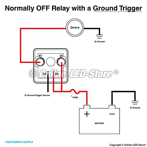 ols 12v dc 120 amp split charge relay switch - 4 terminal