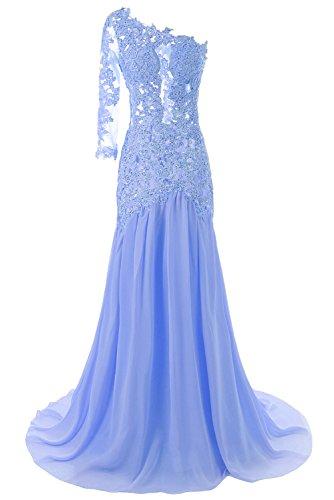 JAEDEN Un hombro largo Sirena Vestidos de noche Vestido de fiesta de graduaci¨®n vestido de fiesta Azul