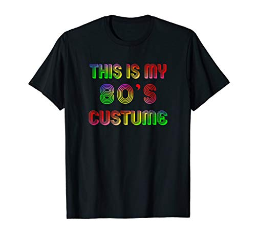 Vintage Funny 80s Costume Halloween Shirt for 1980s Party