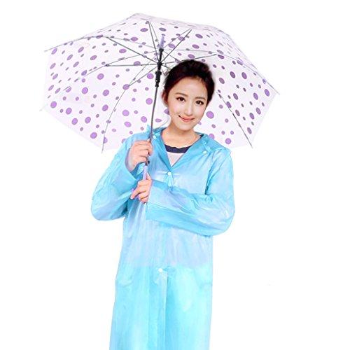 Couleur Extérieur Pied Alpinisme Étanche Transparent Imperméable A Adultes Léger Raincoat With Cap Jetable Bleu Poncho Sur Épaississement Des Dérivantes Violet TpR4qT