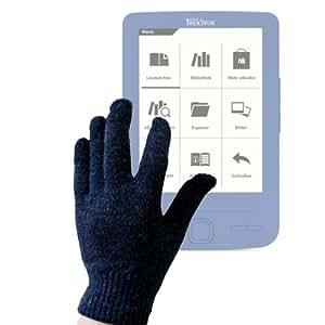 """DURAGADGET-Guantes talla M y medio () capacitivos conductores para eBook Reader Pyrus TrekStor e-Book Mini de 4,3 """""""