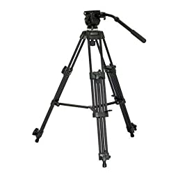 VariZoom VZ-TK75A Aluminum Video Tripod with 65mm Fluid Head and Carry Case