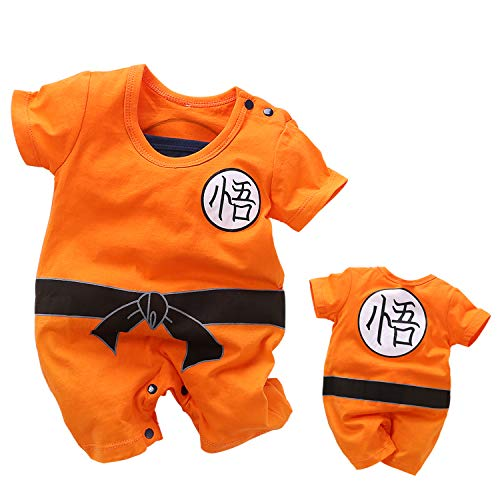 YFYBaby Baby Boys Dragon Ball Z Romper Newborn Goku Costume Jumpsuit Outfit Playsuit Set -