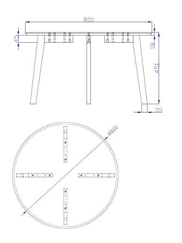 Laccato Grigio Scuro AC Design Furniture 60334 tavolino da Salotto Mia Piano in Legno