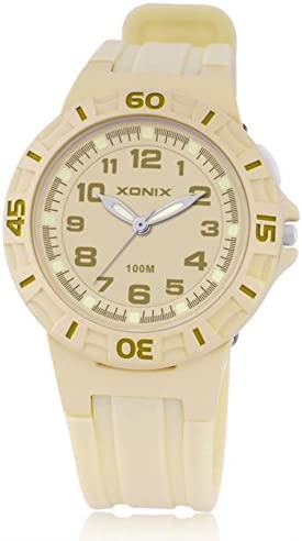 Boys Girls多機能クォーツスポーツ腕時計、100 M防水LED Jelly樹脂ストラップアウトドアファッション子wristwatch-c