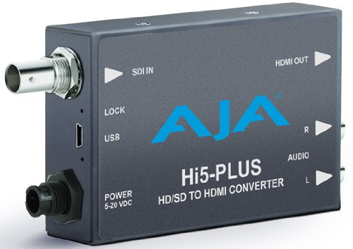 Aja Sdi Converter (AJA Hi5-Plus 3G-SDI to HDMI Mini Converter)