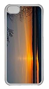 iPhone 5C Case, Personalized Custom Sunrise Littoistenjarvi Lake Kaarina Finland for iPhone 5C PC Clear Case