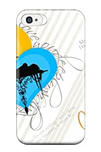 Iphone 4/4s Case Cover With Shock Absorbent Protective Happy Valentine8217s Day 2014 Wishes Quote Case