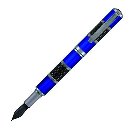 (MONTEVERDE Regatta Sport Fountain Pen - Broad Nib, Black Ink Fountain Pen, Blue (MV32351))
