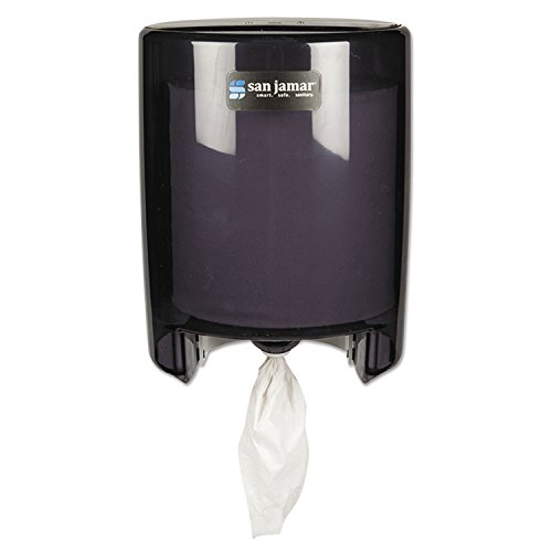 - San Jamar T400TBK Classic Paper Towel Dispenser, Wall Mount, Centerpull, Transluscent Black Pearl