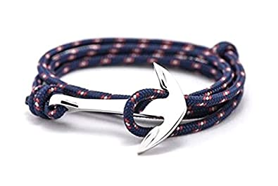 bas prix 773b3 a2fb9 BS - Bracelet Ancre Marine - Mixte - Cordage de Voile ...