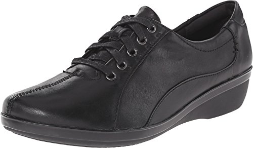 CLARKS Women's Everlay Elma, Black Leather, 11 M US by CLARKS